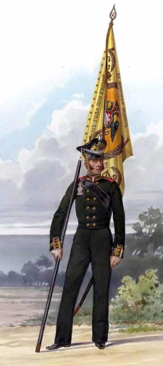 Знаменщик Гвардейского экипажа, 1813 год.
