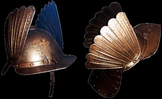 Гусарский шишак с металлическими крыльями. XVIII век.