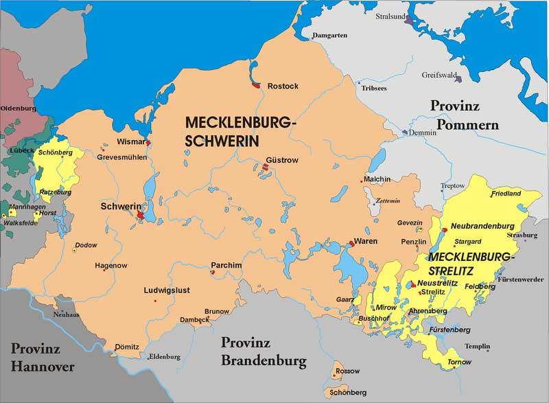 Мекленбург после третьего раздела основных мекленбургских земель
