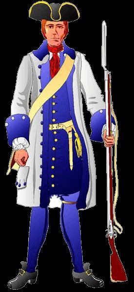 Пехотинец, 1702 год.