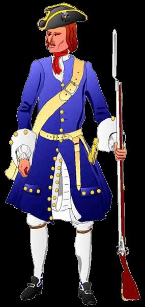 Пехотинец, 1705 год.
