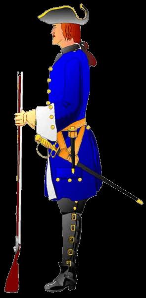Драгун полка фон Лилиенстренга, 1717 год.