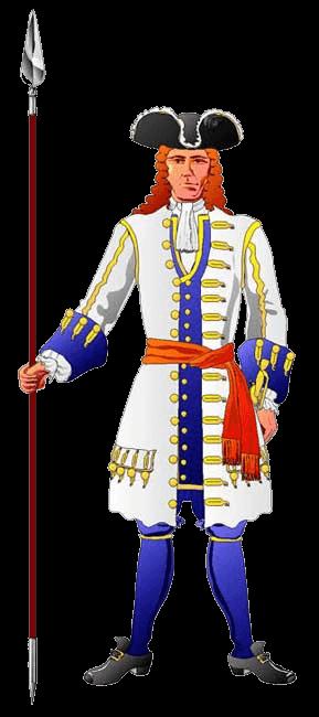 Офицер полка Мальтцана (Maltzahn), 1703 год.