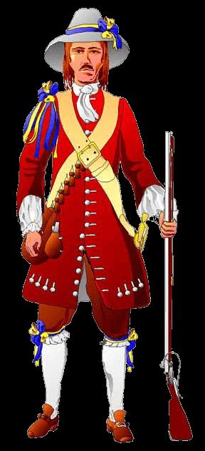Солдат армии Гюстрова, 1659 год.