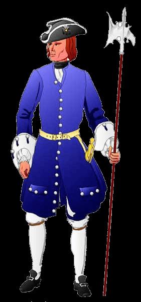 Сержант полка Валинского (Valinsky), 1717 год.