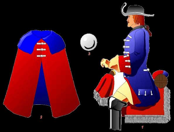Конный гвардеец Гюстрова (Gustrov), 1684 - 1699 годы.