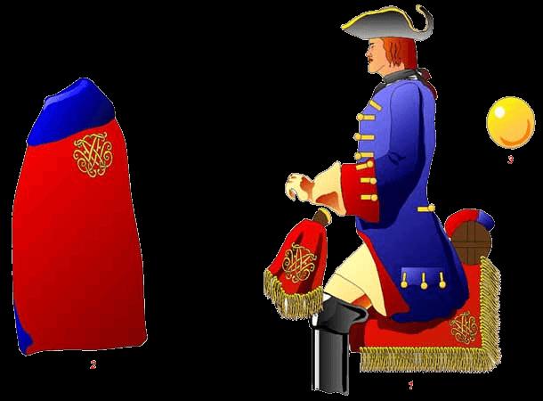 Конный гвардеец, 1705 год.