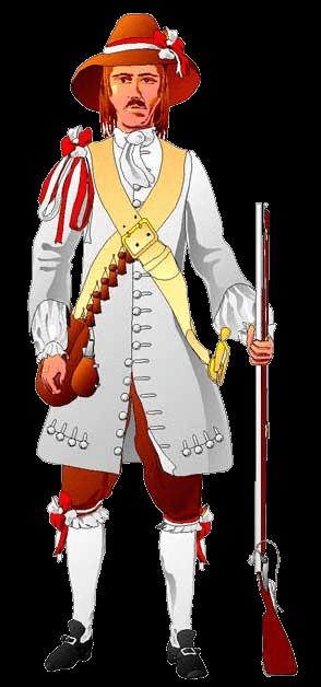Солдат армии Шверина, 1664 год.