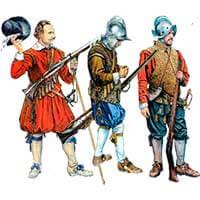 Английские мушкетёры 1588-1688 годов