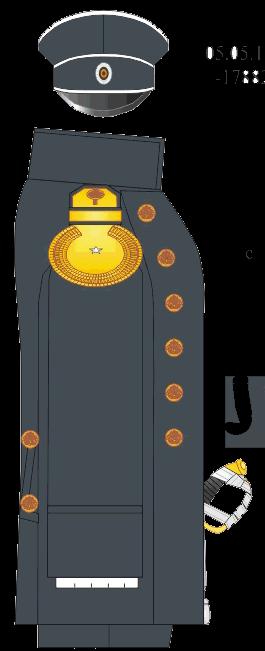 Сюртук мичмана, отделенного командира Морского Кадетского Корпуса.