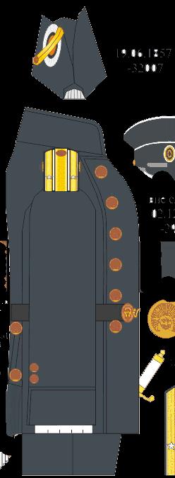 Полукафтан без шитья (сюртук) капитан-лейтенанта Морского Корпуса. 1858-1867 годы.