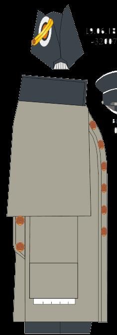 Шинель вне строя капитана 1 ранга Морского училища. 1858-1864 годы.