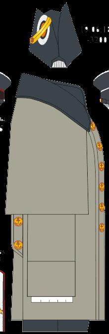 Шинель вне строя капитан-лейтенанта Морского Училища. 1867-1881 годы.