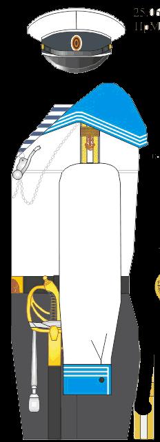 Летняя отпускная форма фельдфебеля Морского Корпуса - Морского Его Императорского высочества наследника Цесаревича корпуса.