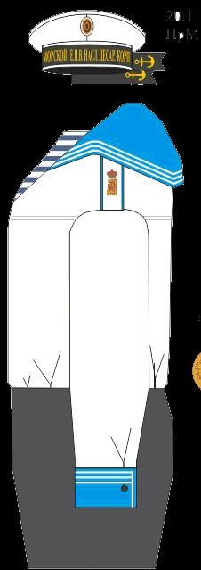 Летняя домашняя форма кадета 6 роты Морского Его Императорского высочества наследника Цесаревича корпуса. 1914-1917 года.