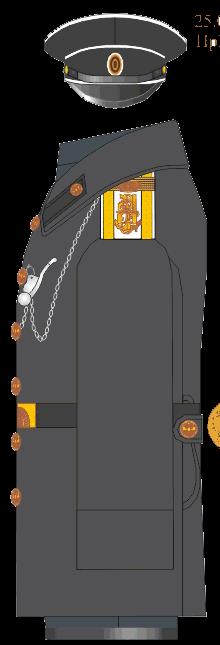 Шинель для строя фельдфебеля Морского Его Императорского высочества наследника Цесаревича корпуса.