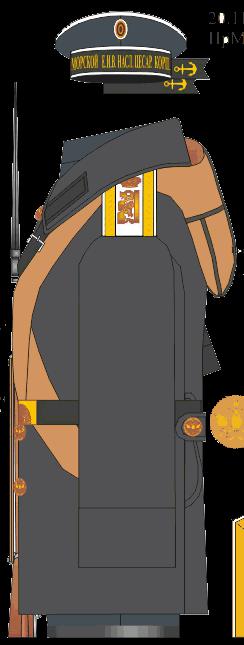 Шинель для строя воспитанника Морского Его Императорского высочества наследника Цесаревича корпуса.