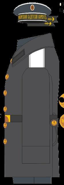 Шинель отпускной формы воспитанника Морского Кадетского Корпуса. 1891-1906 годы.