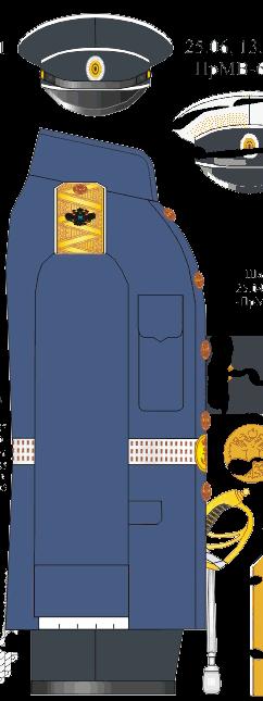 Китель строевой служебной формы контр-адмирала, Директора Морского Его Императорского высочества наследника Цесаревича корпуса - Морского Его Императорского высочества наследника Цесаревича училища. 1914-1916-1917 годы.