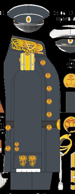Мундир береговой походной формы капитан-лейтенанта Морского Училища - Морского Корпуса. 1881-1885, 1907-1911 годы.
