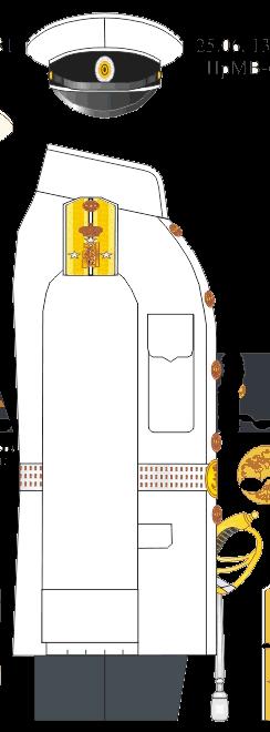 Китель парадной и обыкновенной форм лейтенанта Морского Его Императорского высочества наследника Цесаревича корпуса - Морского Его Императорского высочества наследника Цесаревича училища. 1914-1916-1917 годы.