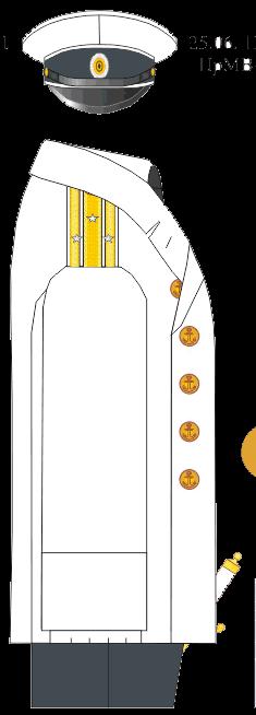 Полотнянник вне строя капитана 2 ранга Морского Училища – Морского Корпуса. 1884-1891-1894 годы.