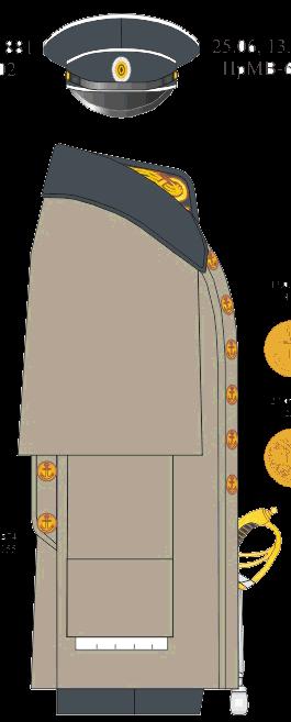 Шинель вне строя лейтенанта Морского Корпуса - Морского Его Императорского высочества наследника Цесаревича корпуса - Морского Его Императорского высочества наследника Цесаревича училища. 1881-1891-1914-1916-1917 годы.