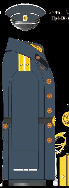 Пальто для строя мичмана Морского Корпуса - Морского Его Императорского высочества наследника Цесаревича корпуса - Морского Его Императорского высочества наследника Цесаревича училища. 1913-1914-1916-1917 годы.