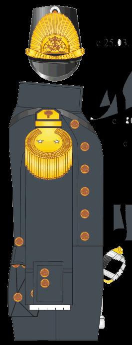 Вицмундир капитан-лейтенанта, ротного командира Морского Кадетского Корпуса.