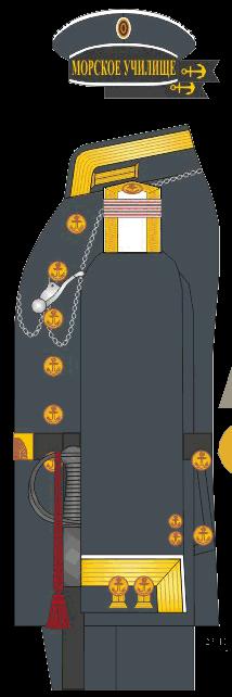 Зимний мундир младшего унтер-офицера Морского Училища. 1875-1881 годы.