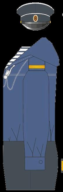 Общесудовая форма фельдфебеля Морского Училища. 1874-1881 годы.