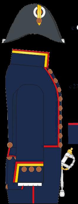 Гражданский чиновничий мундир 9 класса, титулярного советника, старшего преподавателя Морского Кадетского Корпуса. 1837-1854 годы.