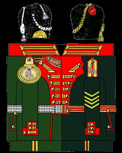 Униформа Роты Дворцовых Гренадёр. (источник: Cranz «The Imperial Guard of Russia 1900 - 1914»)