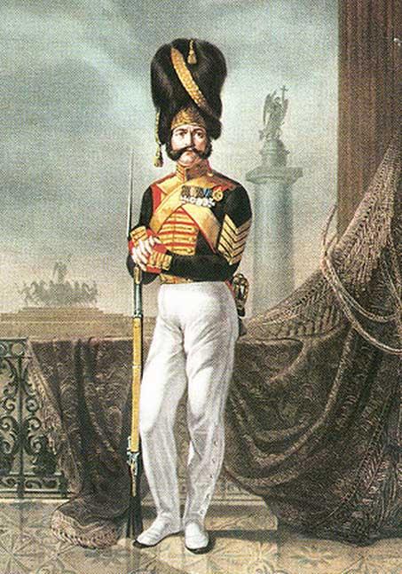 Дворцовый гренадер. Около 1840 г. (Художник Жуковский)