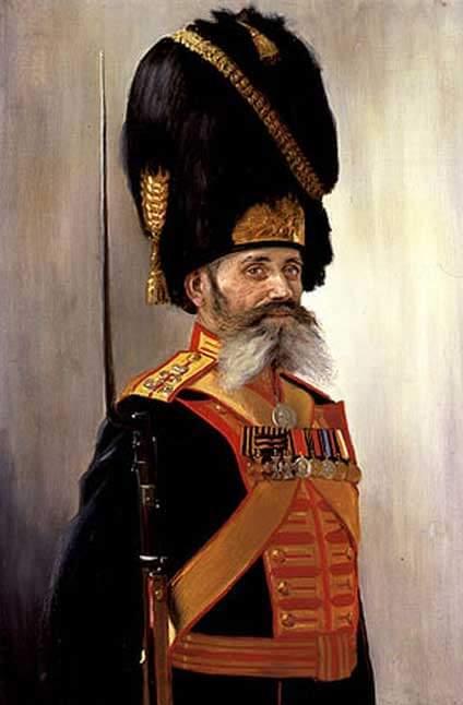 Портрет Дворцового гренадера М. Кулакова. 1915 г. (художник Поярков)