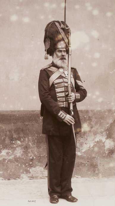 Рота Дворцовых гренадёр. Фото Эдуарда Йонга (Edouard de Jongh), 1892 год.