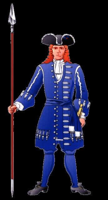 Униформа офицера Баварского полка (Bavarian I.R. Gds of His Electoral Highness).