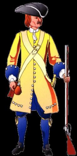 Униформа солдата терции Бургос.