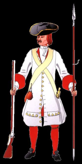 Униформа мушкетёра, 1698 год.