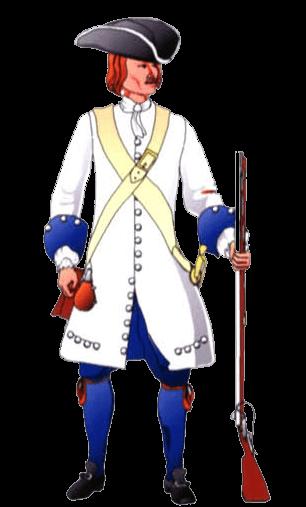 Униформа солдата полка барона Бека.
