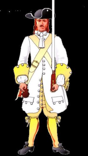 Униформа солдата терцио де Неаполитано (Tercio de Napolitanos viejo de I'Armada), 1701 год.