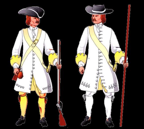 Униформа солдата терцио принца Грааль (Tercio del Conde de Grajal), 1680 – 1684 годы.