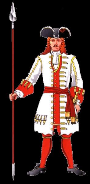 Униформа капитана терцио де Марино (Tercio of Mariño), 1701 год.