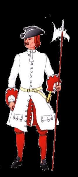Униформа сержанта терцио де Марино (Tercio of Mariño), 1701 год.