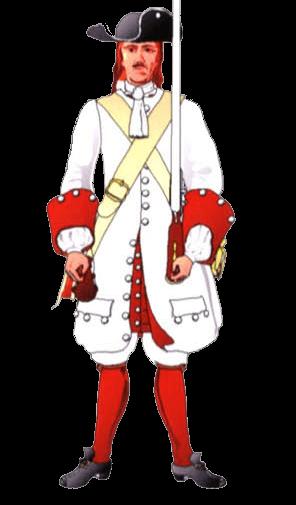 Униформа рядового терцио де Гузман (Tercio of Guzman), 1701 год.