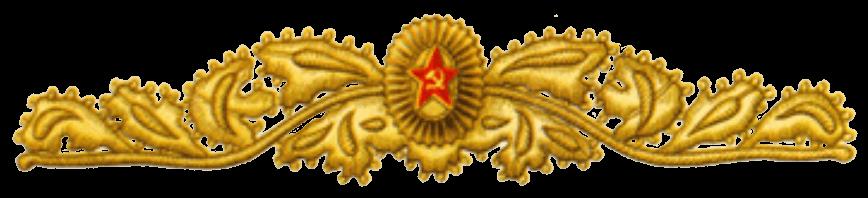 Кокарда и шитье на парадной фуражке Маршала Советского Союза