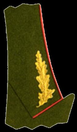Шитьё на воротнике повседневного кителя Маршалов Советского Союза