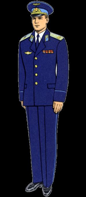 Летняя парадно-выходная форма одежды офицеров и сержантов сверхсрочной службы авиации и Воздушно-десантных войск