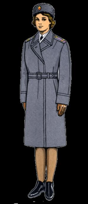 Зимняя парадно-выходная форма одежды офицеров-женщин.