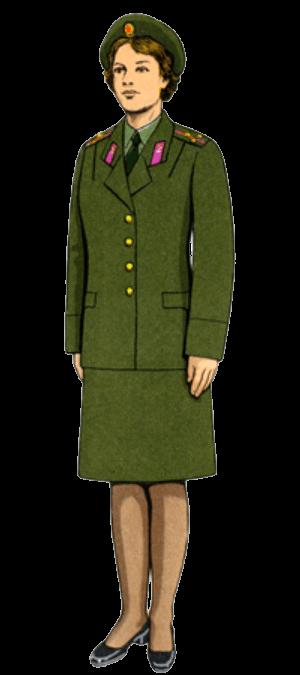 Летняя повседневная форма одежды для строя офицеров-женщин